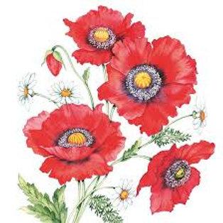 Poppy Scene - Decoupage Napkin