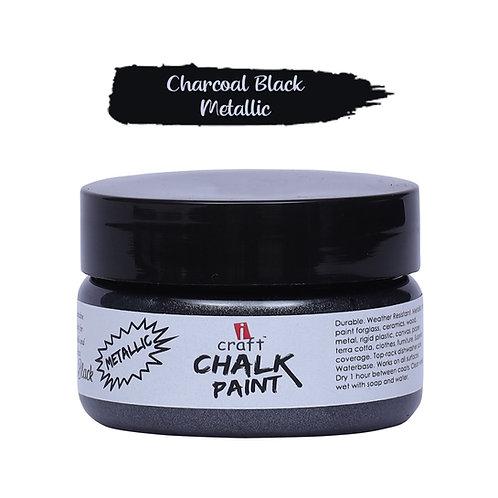 Charcoal Black,Metallic Chalk Paint - ICraft