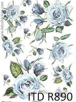 Blue Rose - Rice Paper