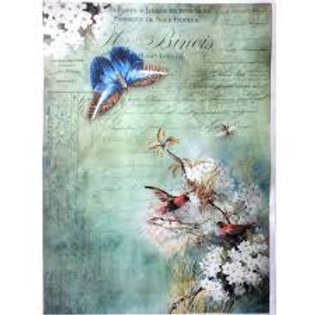Birds and Butterfly - Rice Paper