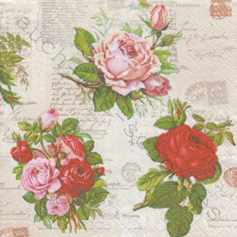 English Roses - Decoupage Napkin
