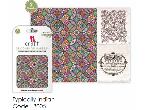 Typically Indian- ICraft Decoupage Paper