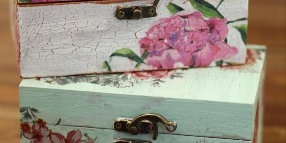 Decoupage With Crackle Effect