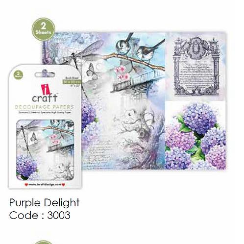 Purple Delight- ICraft Decoupage Paper