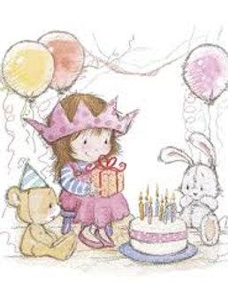 Birthday Girl - Decoupage Napkin