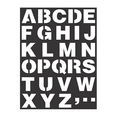 Upper Case - Stencil -7.3x9.7