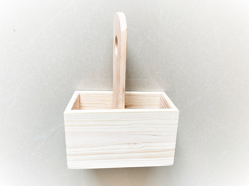 Pine Wood Two Slot Caddy
