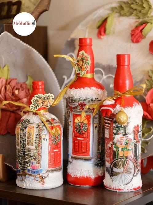 Red Christmas Bottle