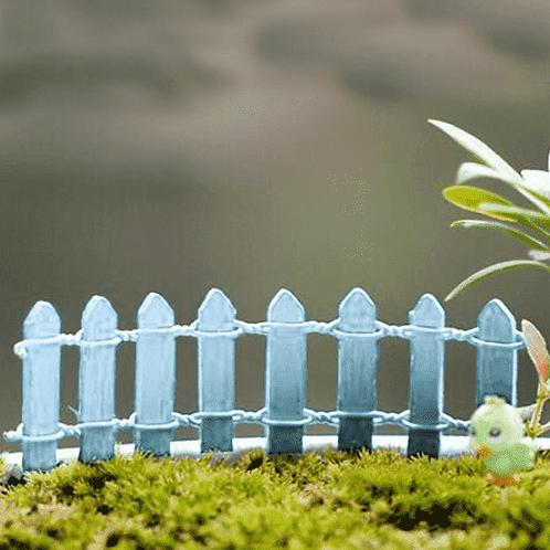 Light Blue Wooden Fence - Miniature