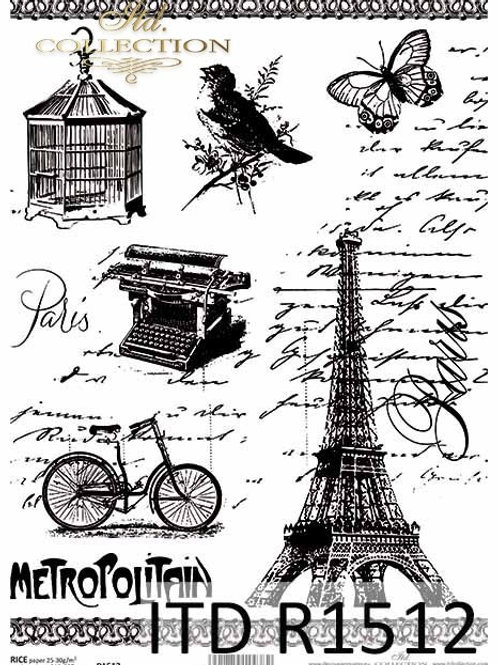 Paris City- Rice Paper