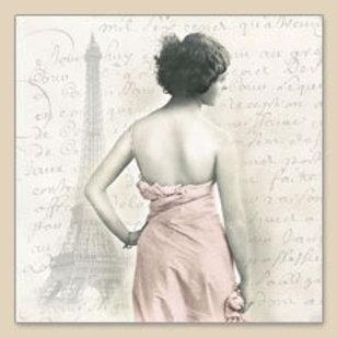 Parisian Lady - Decoupage Napkin