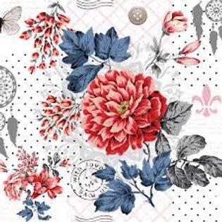 Floral Delight - Decoupage Napkin