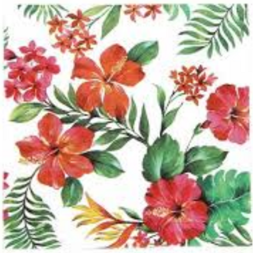 Red Lilies - Decoupage Napkin