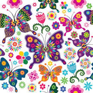 Colourful Butterflies- Decoupage Napkin