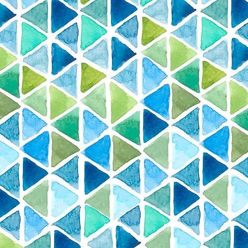 Aquarell Triangle Aqua - Decoupage Napkin