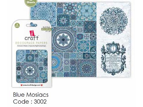Blue Mosaic - ICraft Decoupage Paper