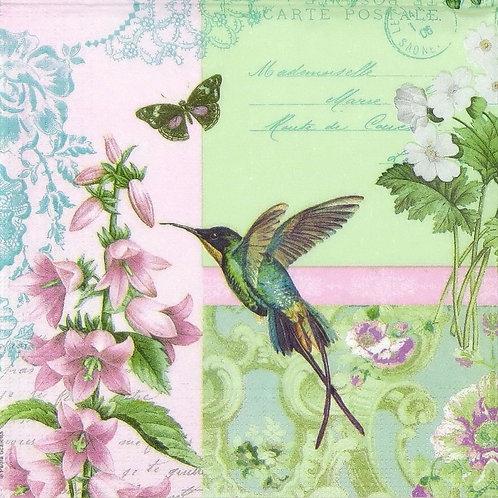 Belle Colibri- Decoupage Napkin