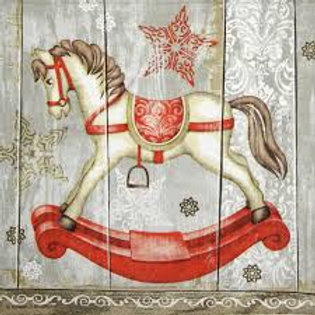 Rocking Horse - Decoupage Napkin