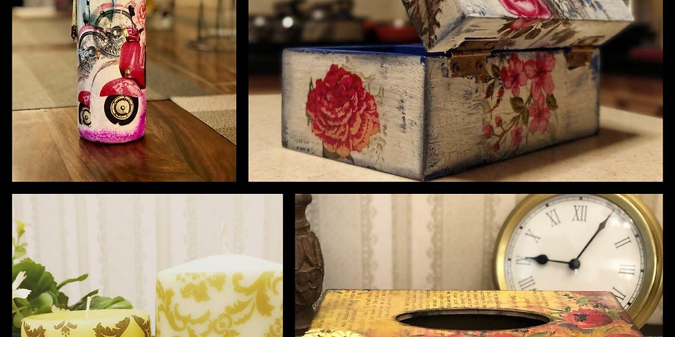 Learn the Beautiful Art Of Decoupage by Nargis Khan