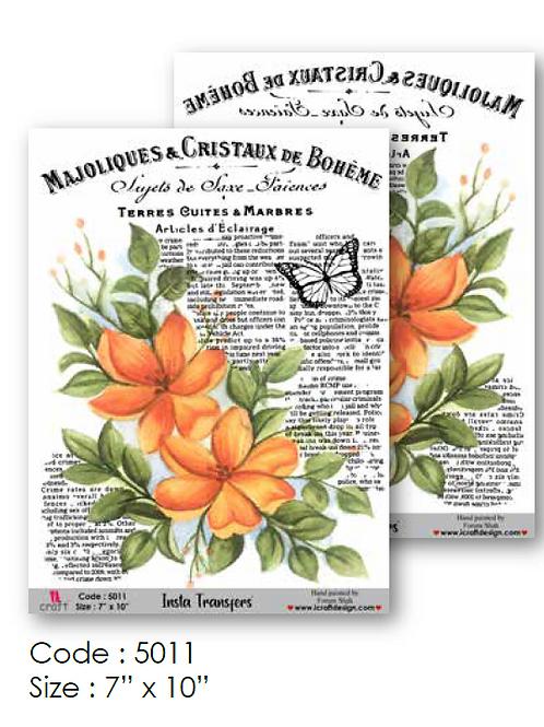 Floral Vintage Design- ICraft Transfer Paper