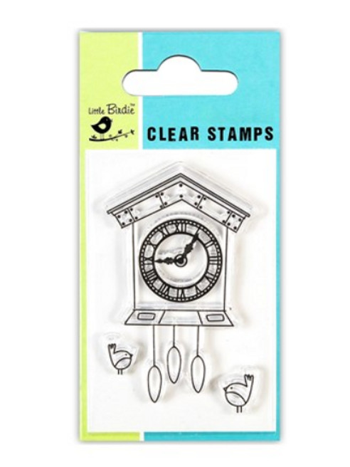 Clock - Little Birdie Clear Stamp