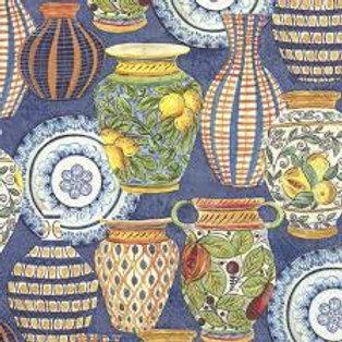 Mediterranean Pottery - Decoupage Napkin