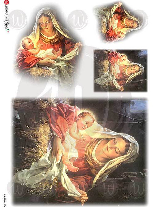 Mary and Jesus - Rice Paper