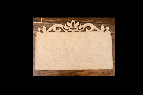 Name Plate With Designer Edges (Design 2) - MDF product