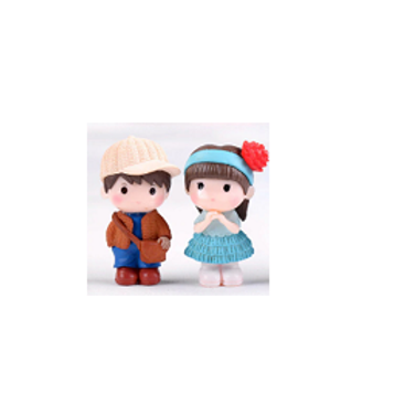 Teenage Girl & Boy Blue- Resin Miniature