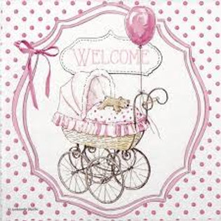 Welcome Pink - Decoupage Napkin