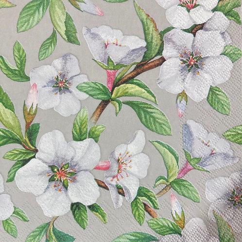 White Paradise- Decoupage Napkin