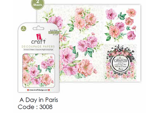 A Day in Paris - ICraft Decoupage Paper
