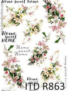 Home Sweet Home- Rice Paper