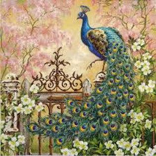 Noble Peacock - Decoupage Napkin