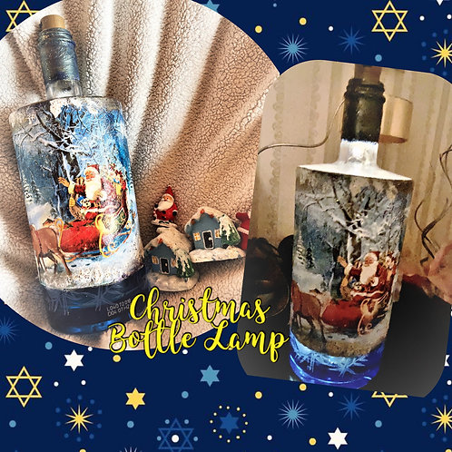 Christmas Bottle Lamp with Texture & Snow Effect Video Tutorial