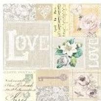 Love Elegant- Decoupage Napkin
