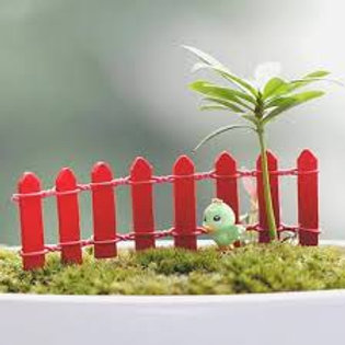 Red Wooden Fence - Miniature