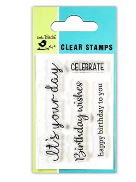 Birthday Expressions - Little Birdie Clear Stamp