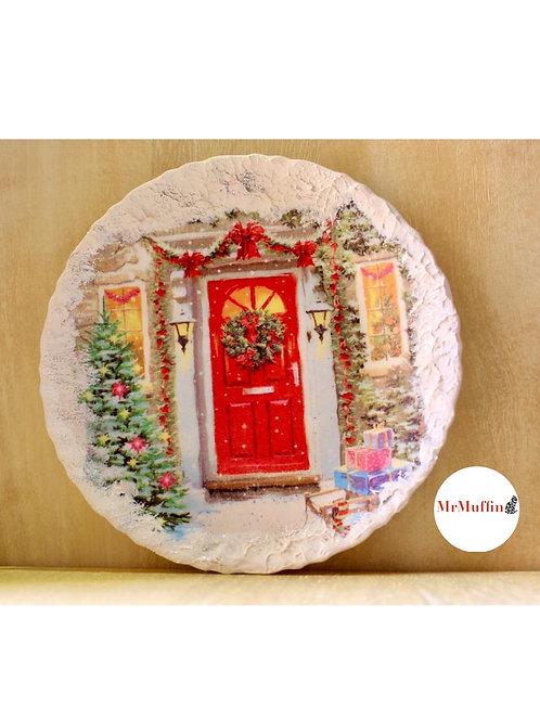 Door Christmas Plate for Decor