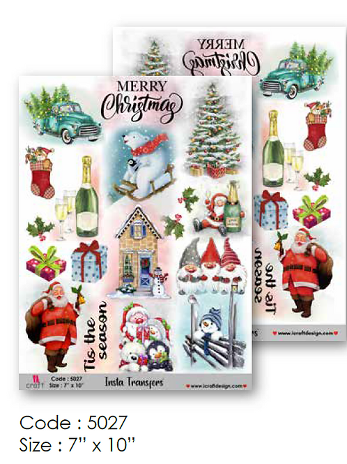 Christmas - ICraft Transfer Paper