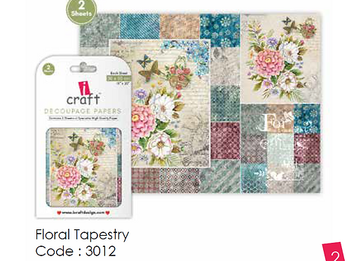 Floral Tapestry ICraft Decoupage Paper