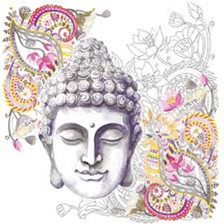 Buddha Head Stone - Decoupage Napkin