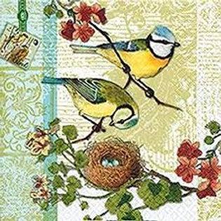 Bird Families - Decoupage Napkin