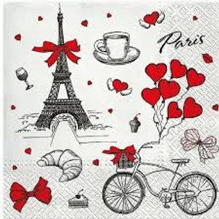 Paris Love Theme - Decoupage Napkin