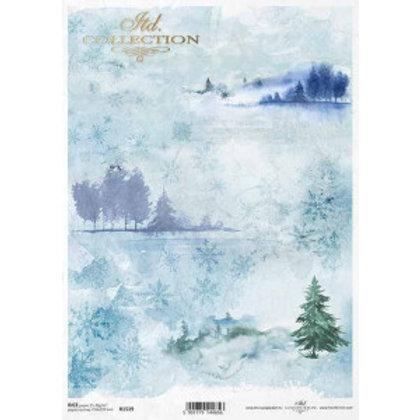 Winter Landscape - Rice Paper