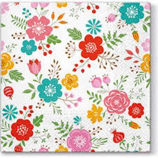 Floral Print - Decoupage Napkin