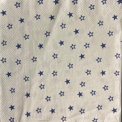 Blue Star - Decoupage Napkin