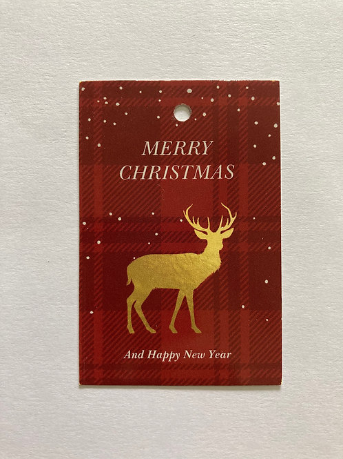 Merry Christmas Red&Gold - Gift Tag(Set Of 3)