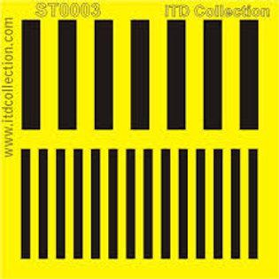 Lines - Stencil - 6.3 x 6.3