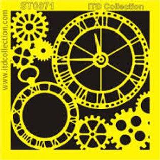 Clock - Stencil - 6.3 x 6.3